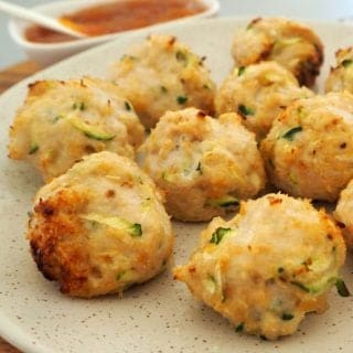 Baked Chicken Zucchini and Cheese Balls