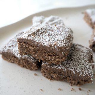 Thermomix Chocolate Coconut Slice Recipe