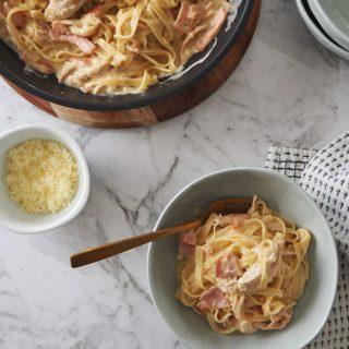 Simple Creamy Chicken Carbonara Recipe