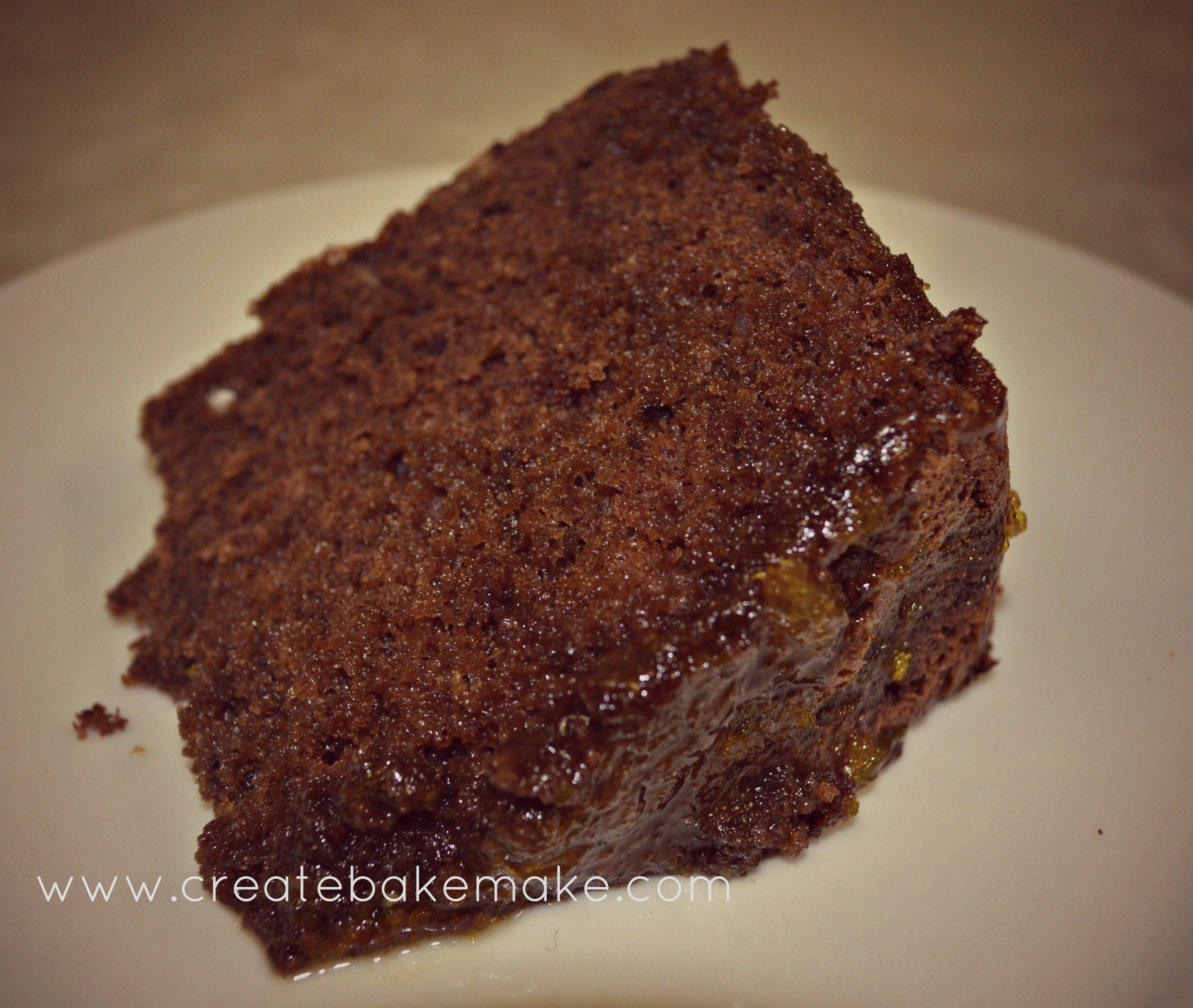 Chocolate Cake with Orange Syrup - Create Bake Make