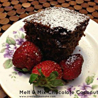 Melt & Mix Chocolate Coconut Cake