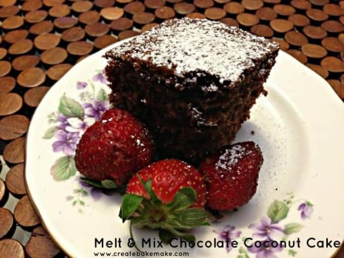 Melt & Mix Chocolate Coconut Cake