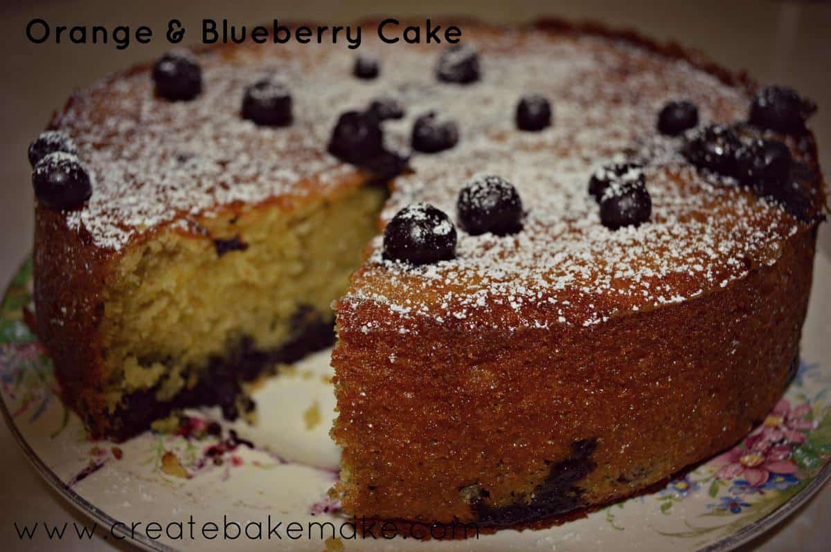 Inspiration for the weekend – Orange and Blueberry Cake