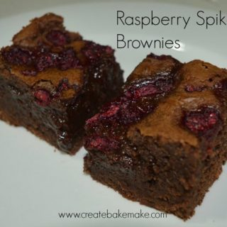 raspberry spiked brownies