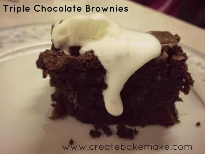 Triple Chocolate Brownies - Create Bake Make