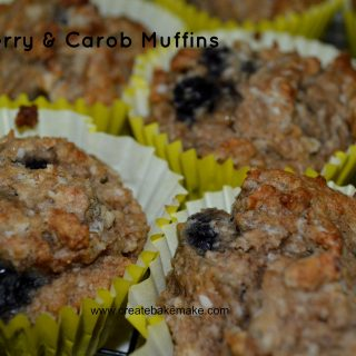 Blueberry and Carob Muffins