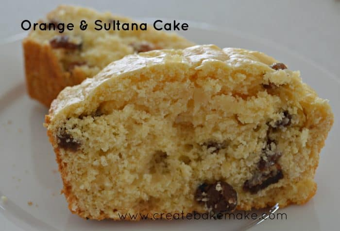 Simple Orange and Sultana Cake