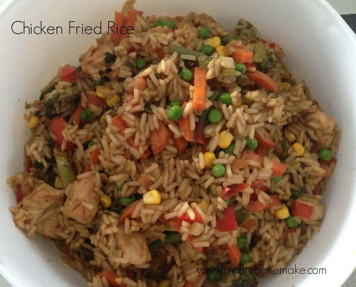 Chicken Fried Rice - Create Bake Make