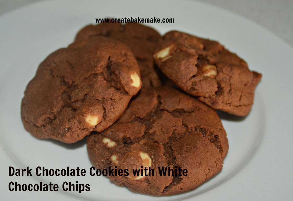 dark chocolate cookies with white choc chips create bake. Black Bedroom Furniture Sets. Home Design Ideas