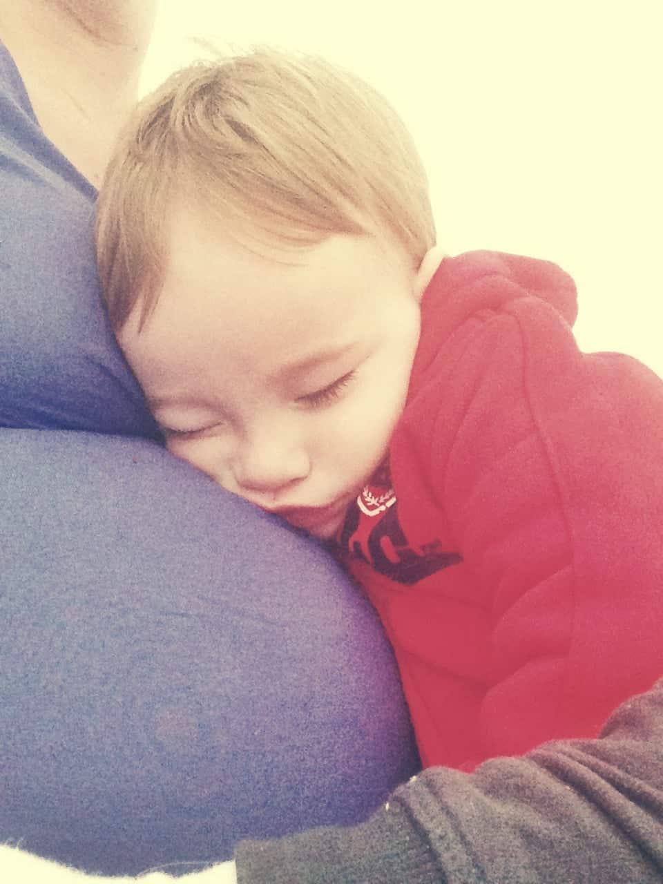 Enjoying some Mummy & Liam cuddles before Aiden was born