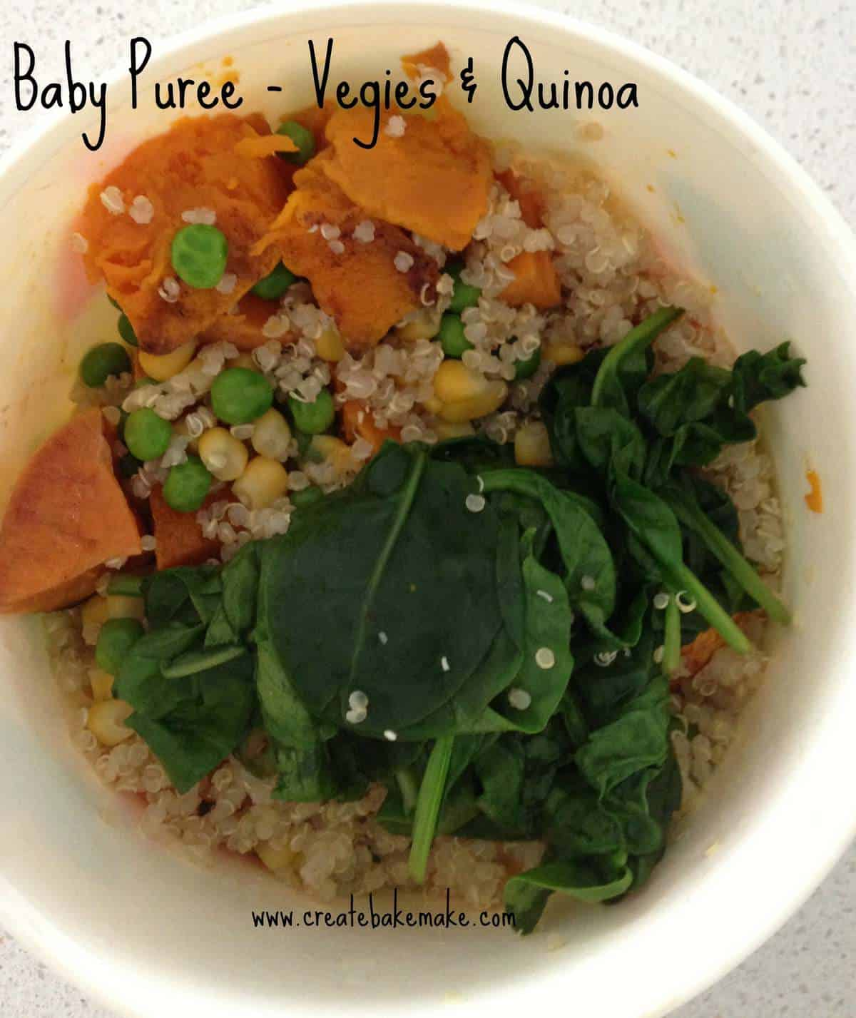 Baby Puree Vegies & Quinoa