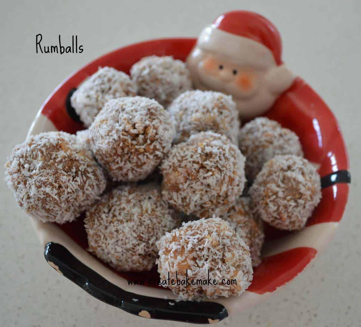 Christmas baking – Rum balls
