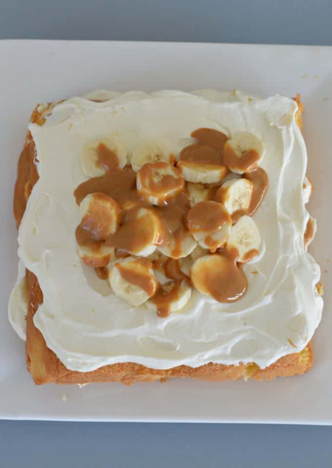 Caramel and Banana Layer Cake