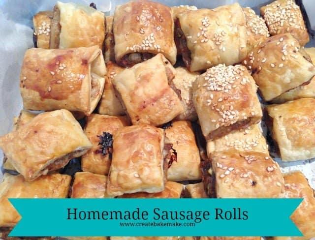 Party Food Homemade Sausage Rolls Create Bake Make