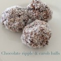 chocolate ripple and carob balls