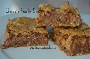 Chocolate Smartie Slice