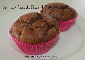 Tim Tam & Choc Chunk Muffins