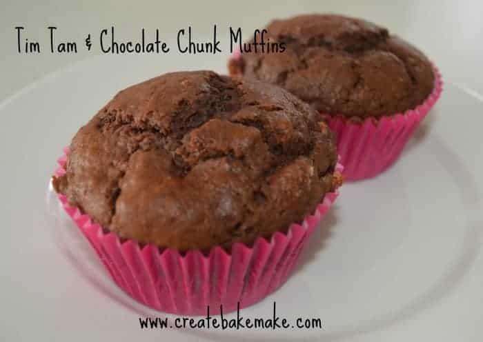 Tim Tam and Chocolate Chunk Muffins