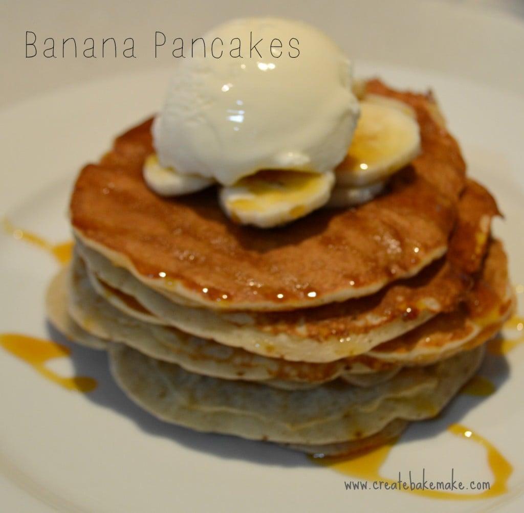 how to make banana pancakes