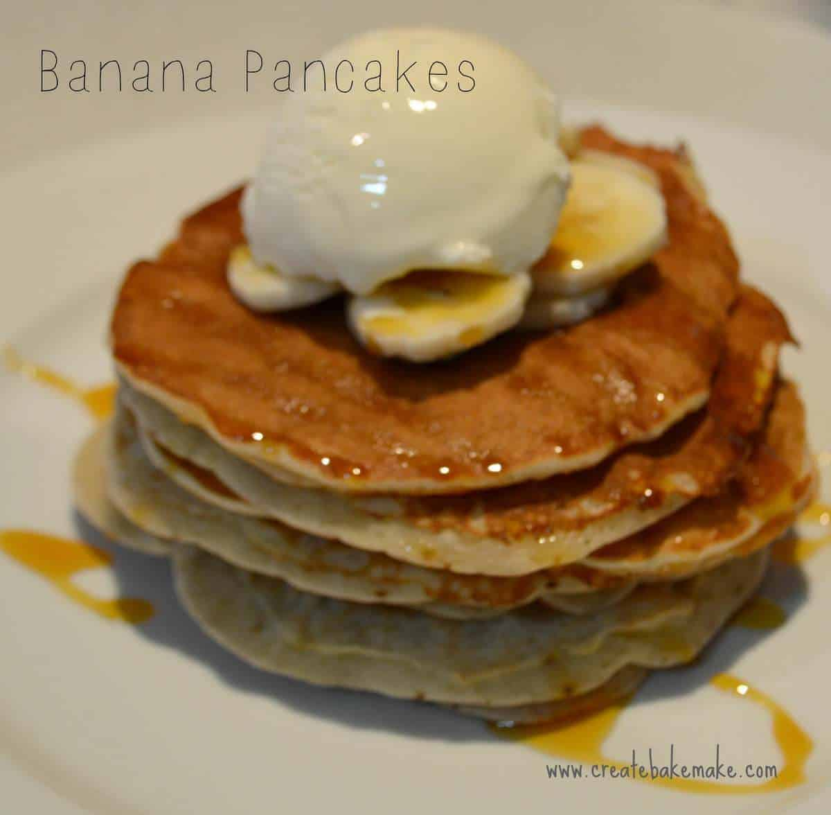 Pancake Tuesday - Yummy Banana Pancakes - Create Bake Make