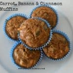 carrot banana and cinnamon muffins