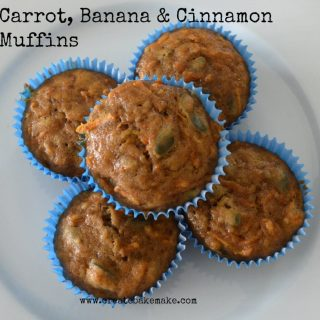 carrot banana and cinnamon muffins