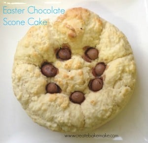 Easter Chocolate Scone Cake