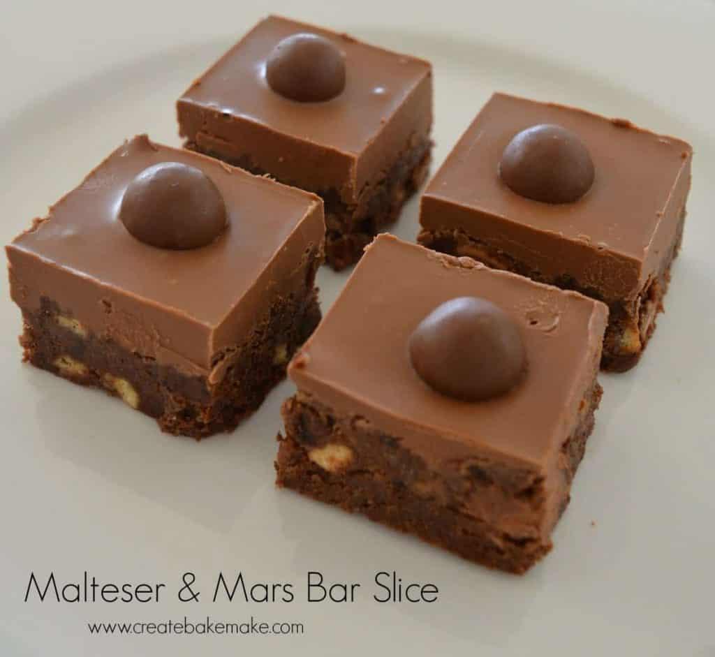 Malteser and Mars Bar Slice