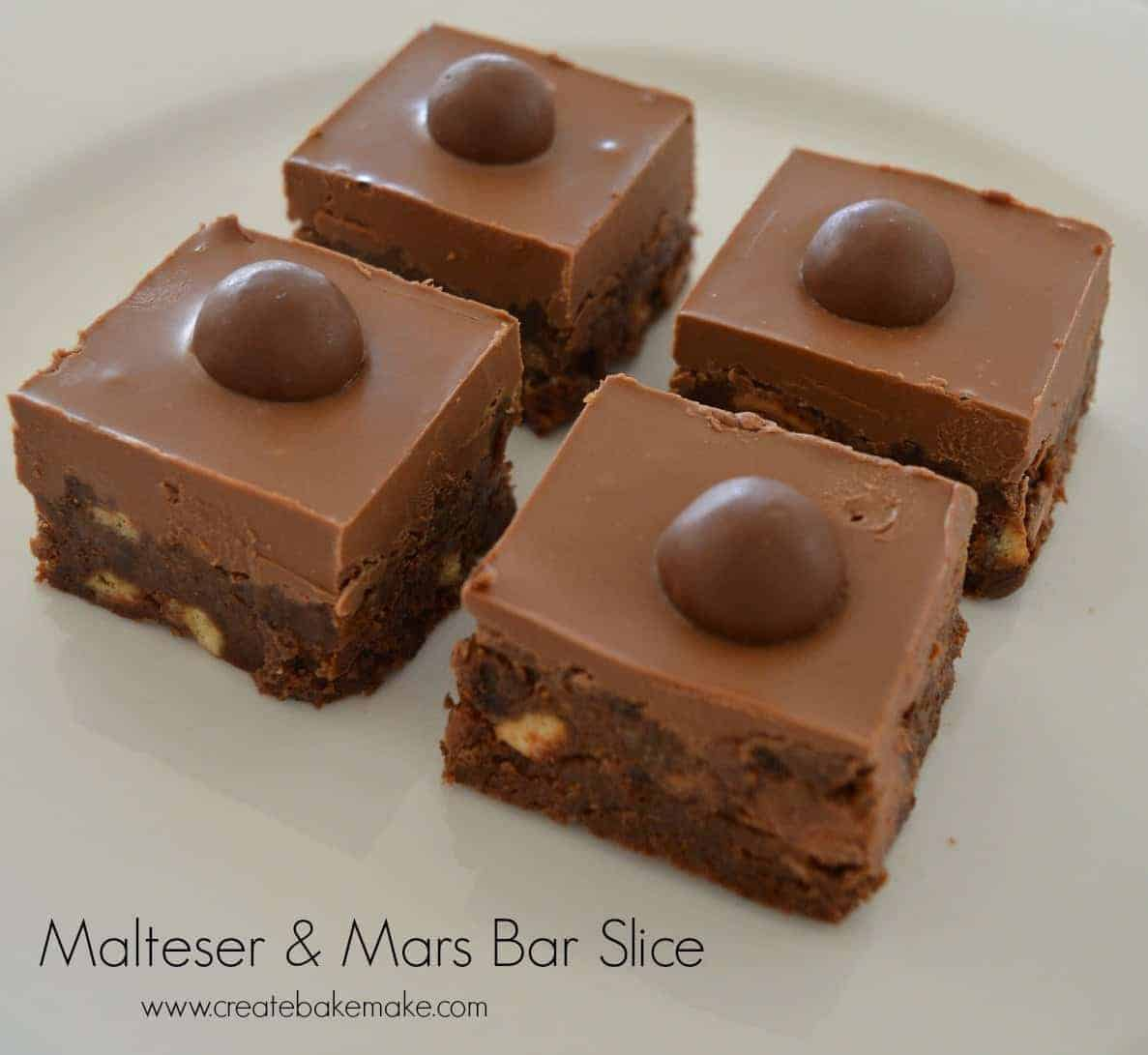Malteser And Mars Bar Slice Create Bake Make