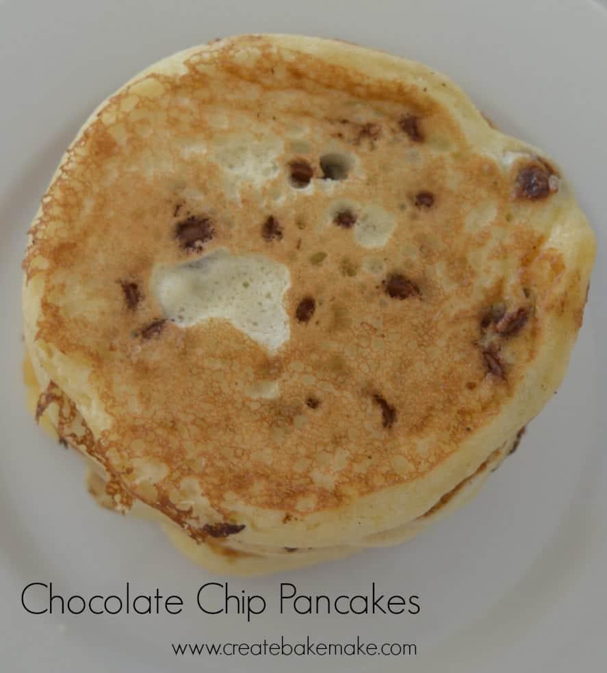 simple chocolate chip pancake recipe