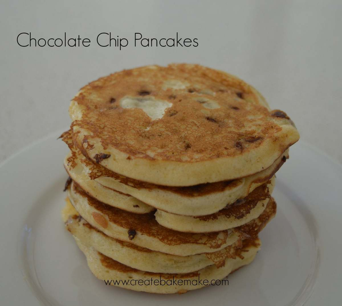 Easy Chocolate Chip Pancakes - Create Bake Make
