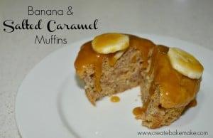 banana and salted caramel muffins