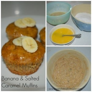 Banana and salted caramel muffins