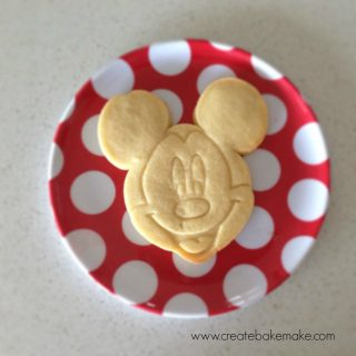 Giant Mickey Mouse Cookies