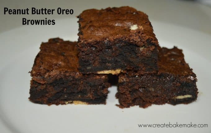 Peanut Butter and chocolate cream oreo brownies