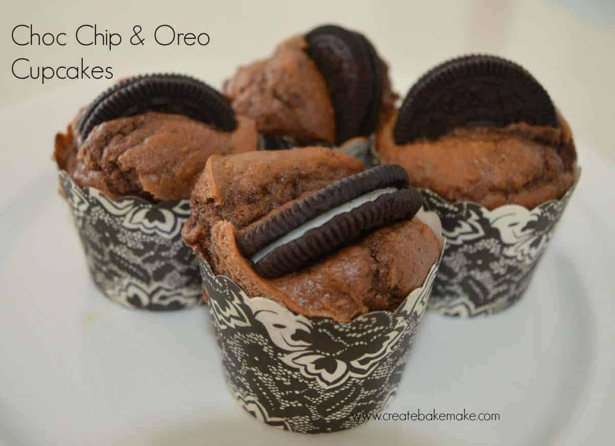 Chocolate Chip & Oreo Cupcakes