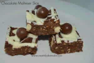 chocolate malteser slice
