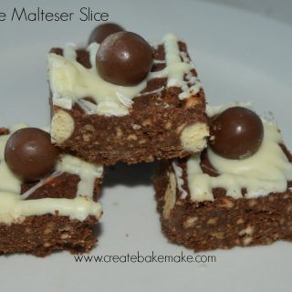 chocolate malteser slice