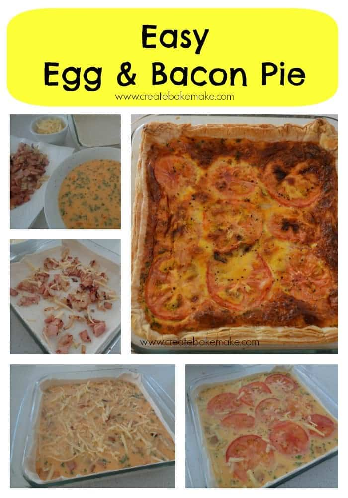 Egg & Bacon Pie Collage