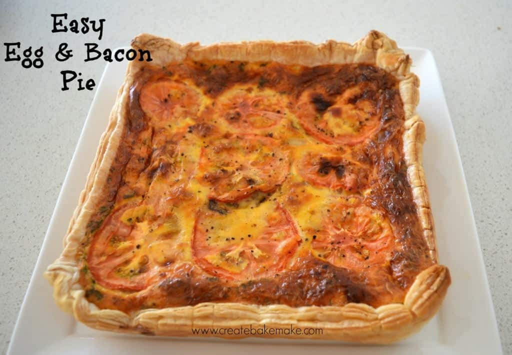 Egg and Bacon pie title