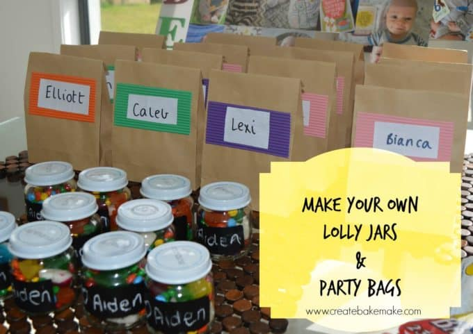 Make your own party bags and lolly jars