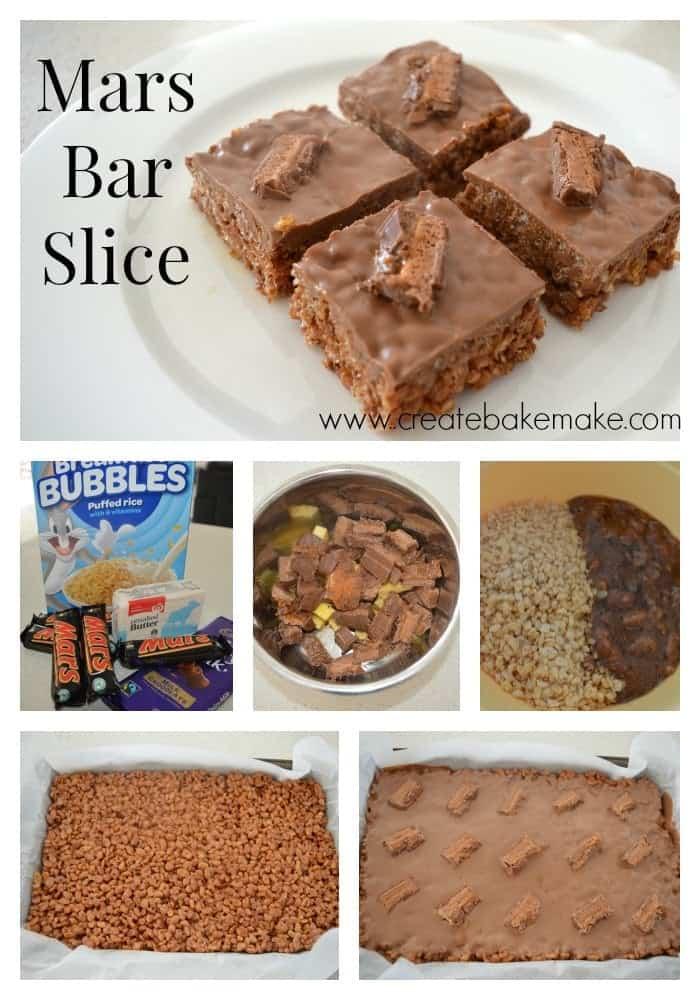 Mars Bar Slice Collage