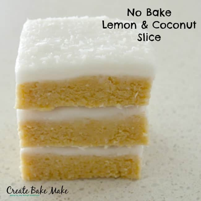 No Bake Lemon and Coconut Slice