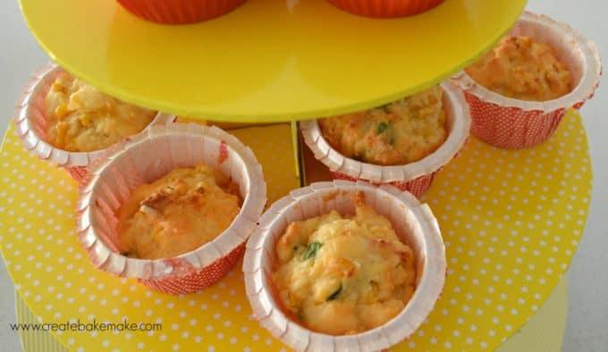 corn tomato and spinach muffins