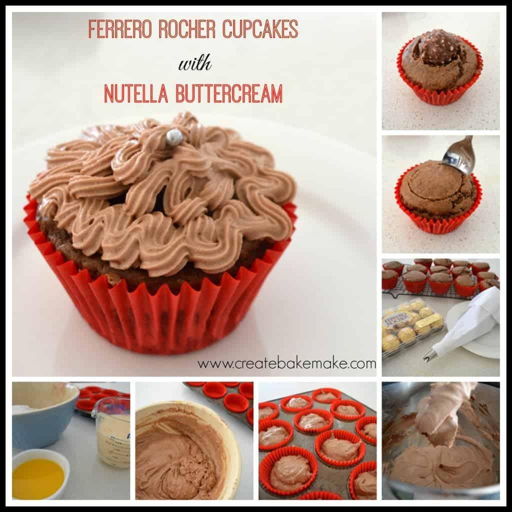 Ferro Rocher Cupcakes Collage