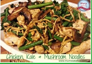 Chicken Kale and Mushroom Stirfry