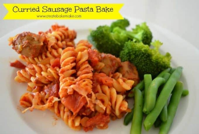 Curried Sausages Pasta Bake