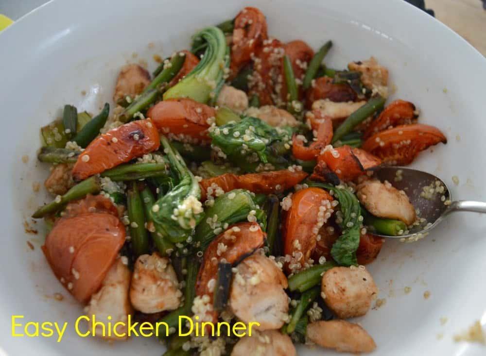 Chicken, Pak Choy, Bean & Tomato Salad
