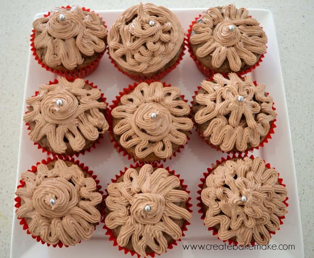 ferrero rocher cupcakes plate