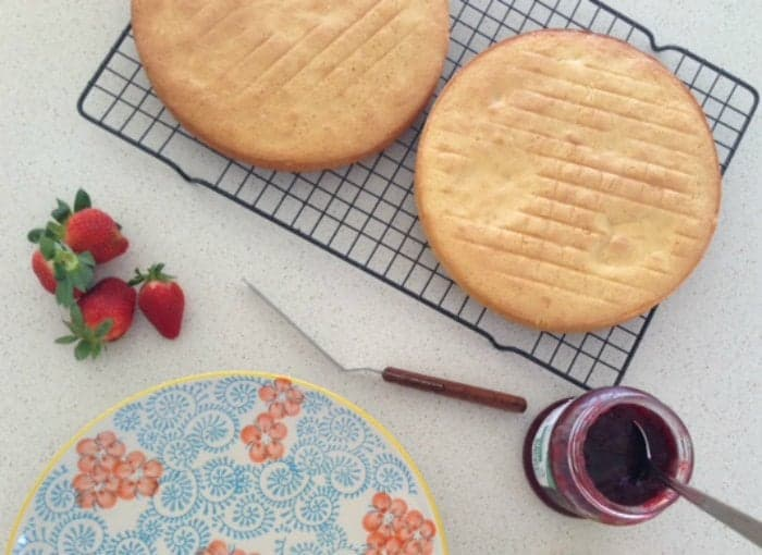 Jam and cream sponge 1